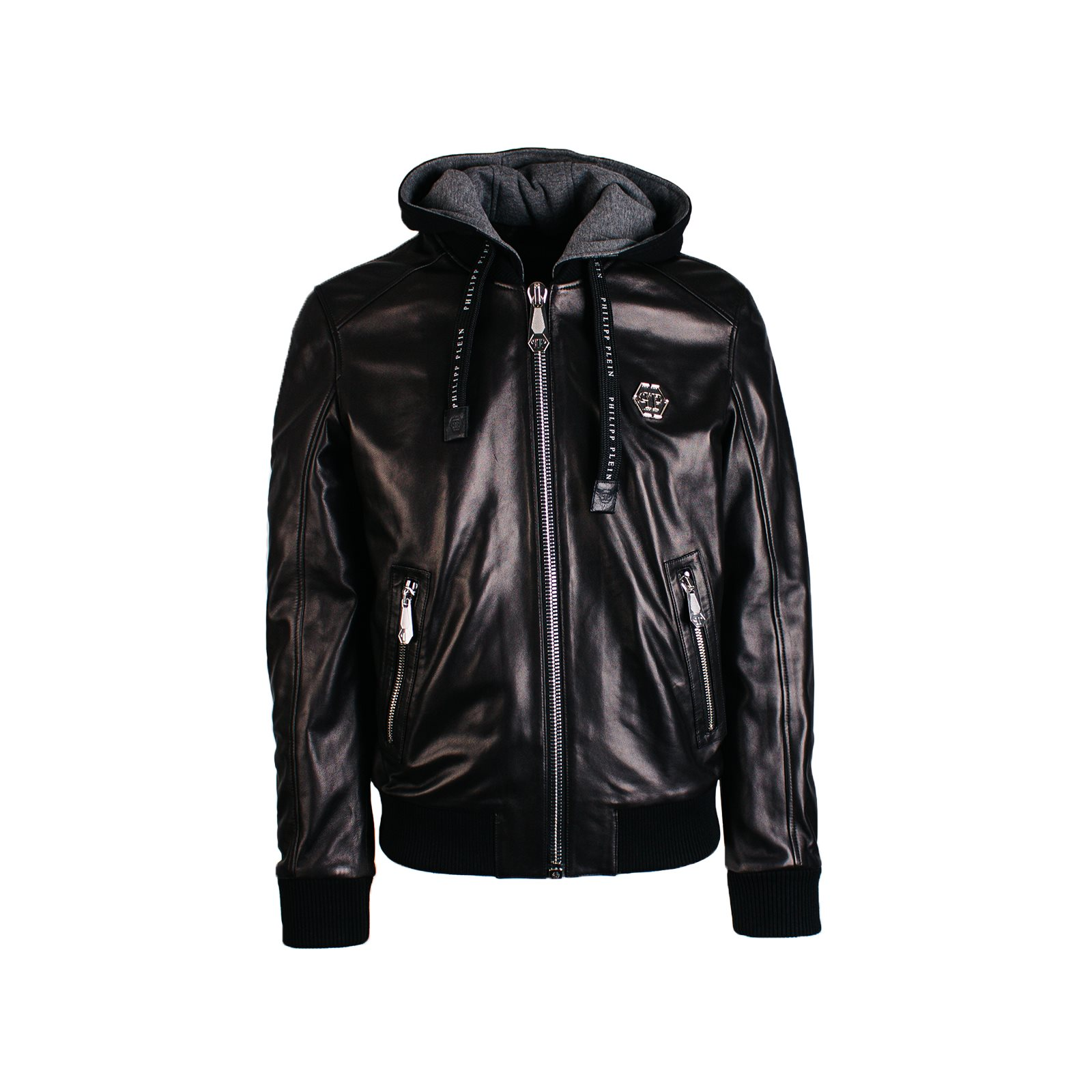 HOODED LEATHER JACKET